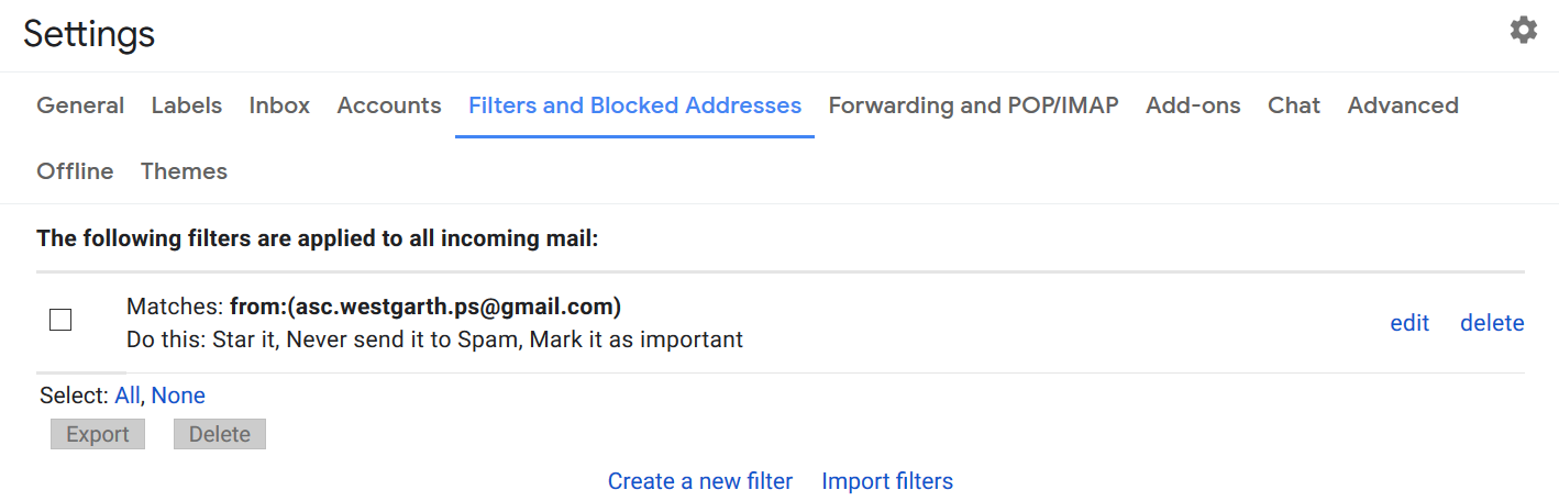 GMail Filters Step 4